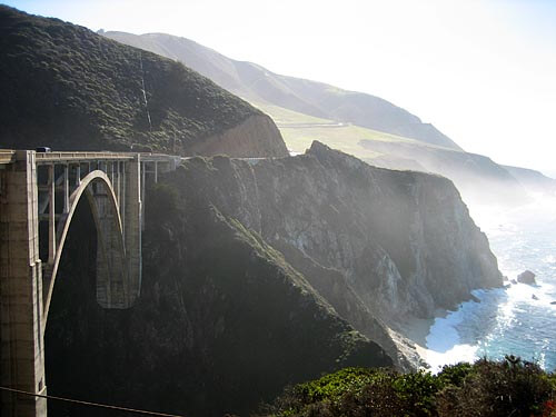 The 1932 Rocky Creek Bridge in California's Big Sur region.