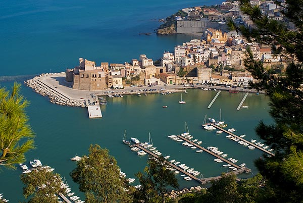 Looking down on the picturesque marina at Castellammare del Golfo