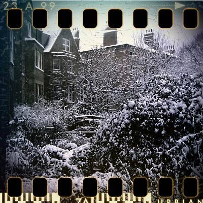 Camera phone shot of a snowy London December 2010
