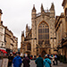 The square outside Bath's famous Abbey church.