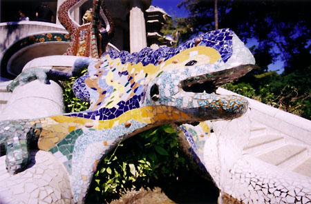 Gaudi's dragon in Parc Guell.