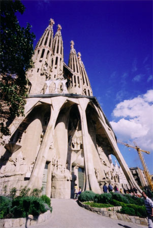 South entrance to Sagrada Familia,