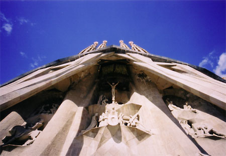 Detail of The Passion. Sagrada Familia, Barcelona, Spain.