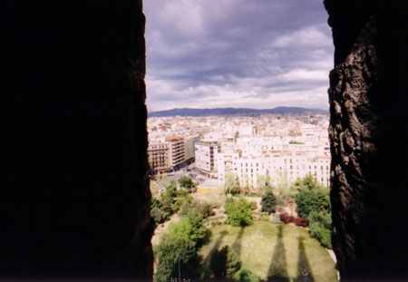 View from Sagrada Familia, Barcelona.