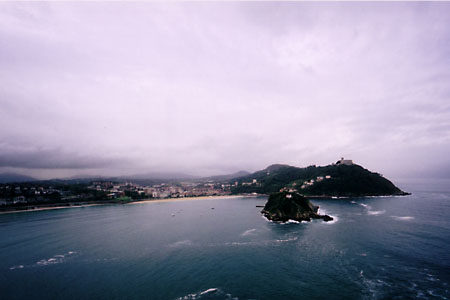 The bay that San Sebastian is built around is shaped like a conch shell.