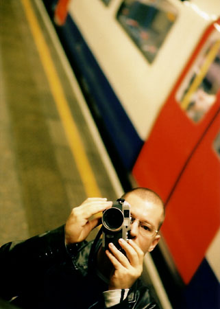 Self portrait in the London Underground.