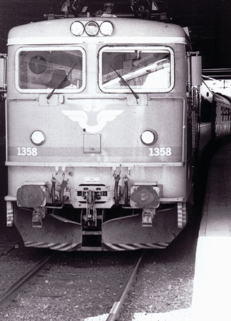 The old Swedish type of train engine.