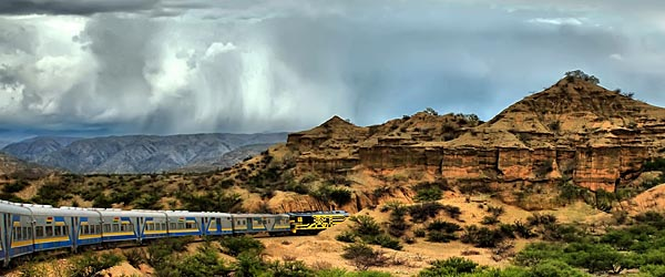 A train in Bolivia