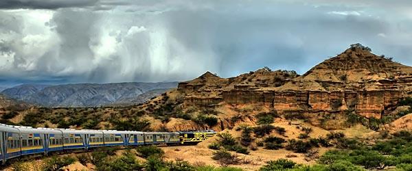 A train in Bolivia