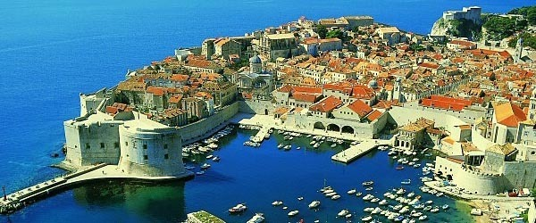 Beautiful Dubrovnik marina in Croatia