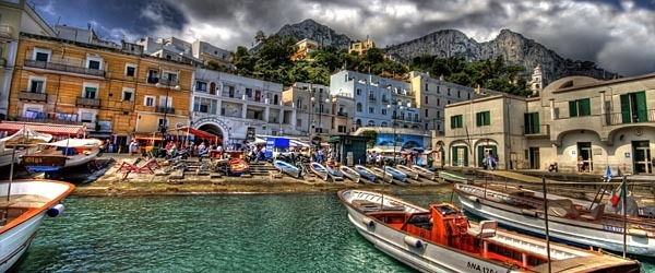 The harbor at Capri, Italy