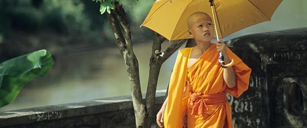 A young monk in Laos