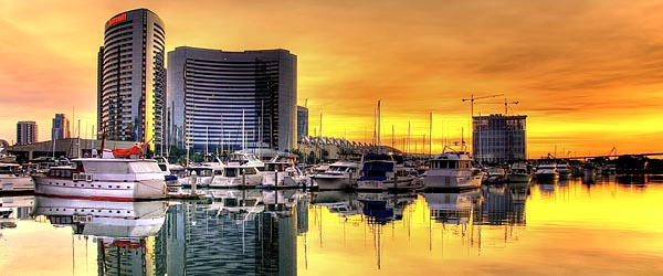 San Diego Marina at sunrise by slack12 on flickr